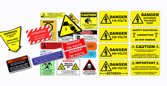 Safety Labels & Signs